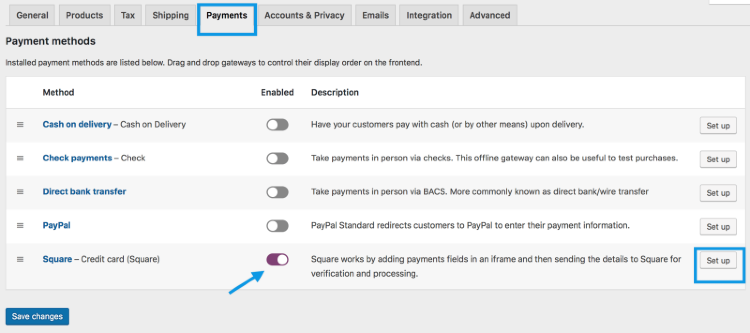Square Payment Gateway for WooCommerce